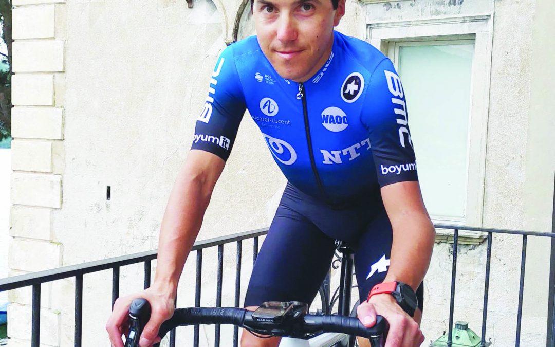 Il ciclista lucano Domenico Pozzovivo con la nuova maglia della NNT
