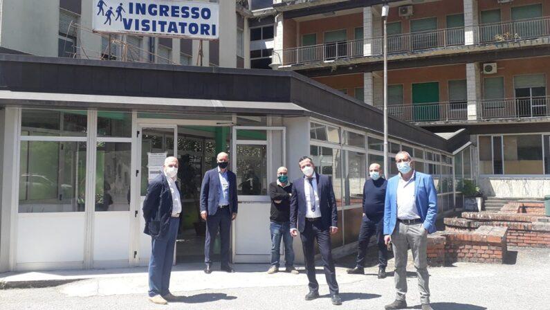 Verso la riapertura dell'ospedale di Soriano, sopralluogo dei vertici dell'Asp di Vibo Valentia