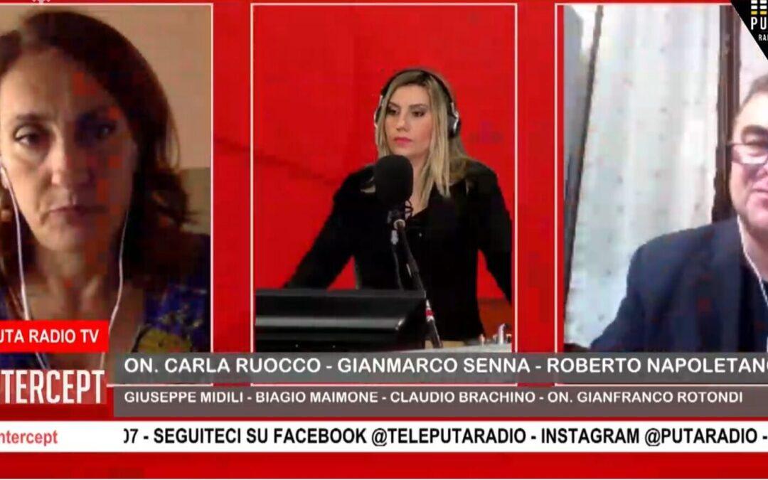 """VIDEO – Roberto Napoletano in diretta a  """"Intercept"""""""