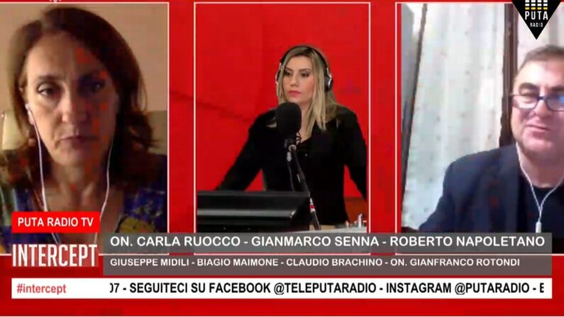 "VIDEO – Roberto Napoletano in diretta a  ""Intercept"""