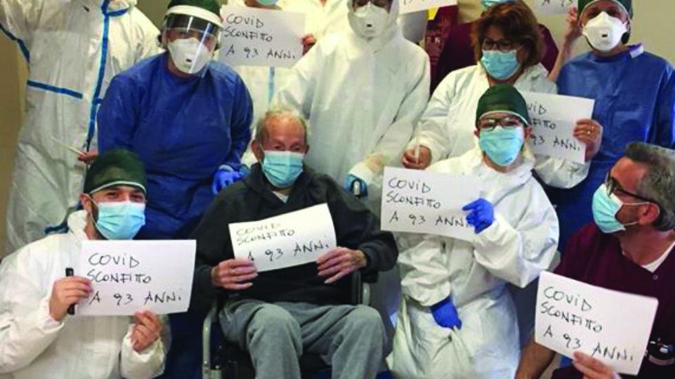 Coronavirus, guarito 93enne: esultano medici e infermieri e la sua Pisticci lo aspetta