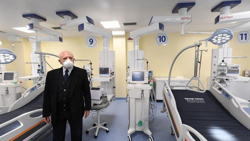 Coronavirus, nuovo reparto di terapia intensiva a Boscotrecase, 12 posti letto nel Covid Hospital
