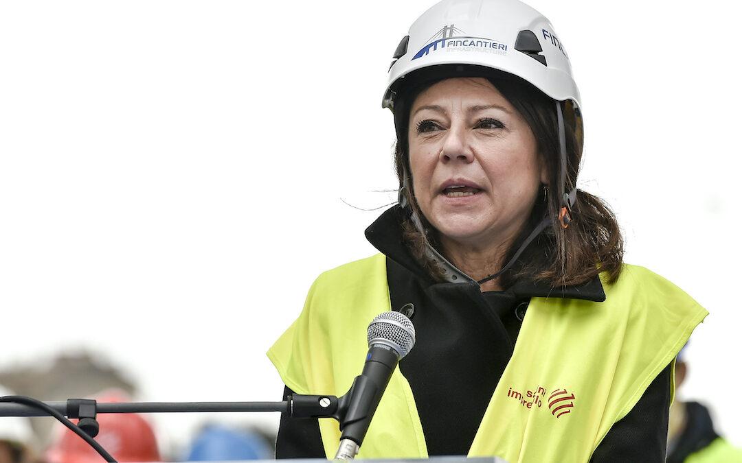 Il ministro delle Infrastrutture e Trasporti, Paola De Micheli (Pd)