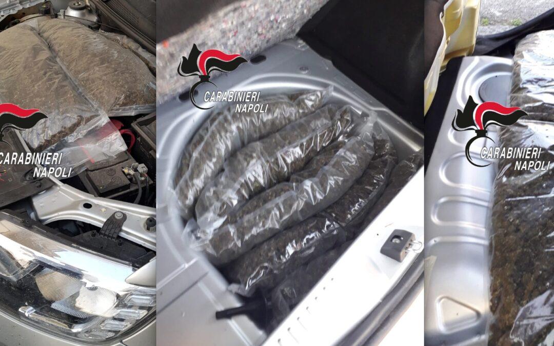 Marigliano: trasportava 11 chili di droga in auto, arrestano 29enne