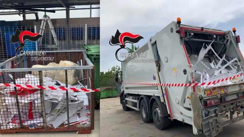 Sicurezza ambientale, raccoglievano rifiuti speciali per una ditta, nei guai imprenditore e tre operatori ecologici