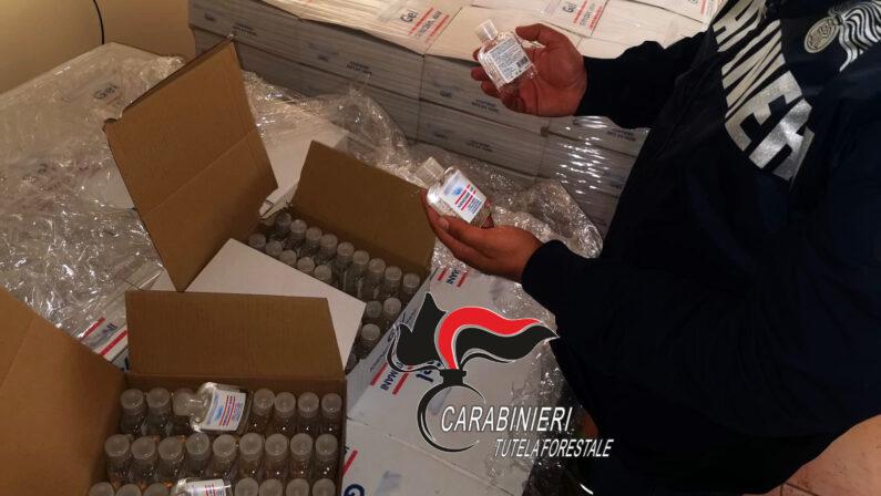 Sapone venduto come gel antibatterico, oltre 8mila flaconi sequestrati