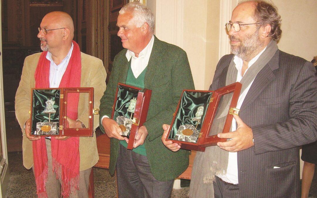 Babak Karimi, Marco Tullio Giordana, Angelo Barbagallo al premio Mario Gallo