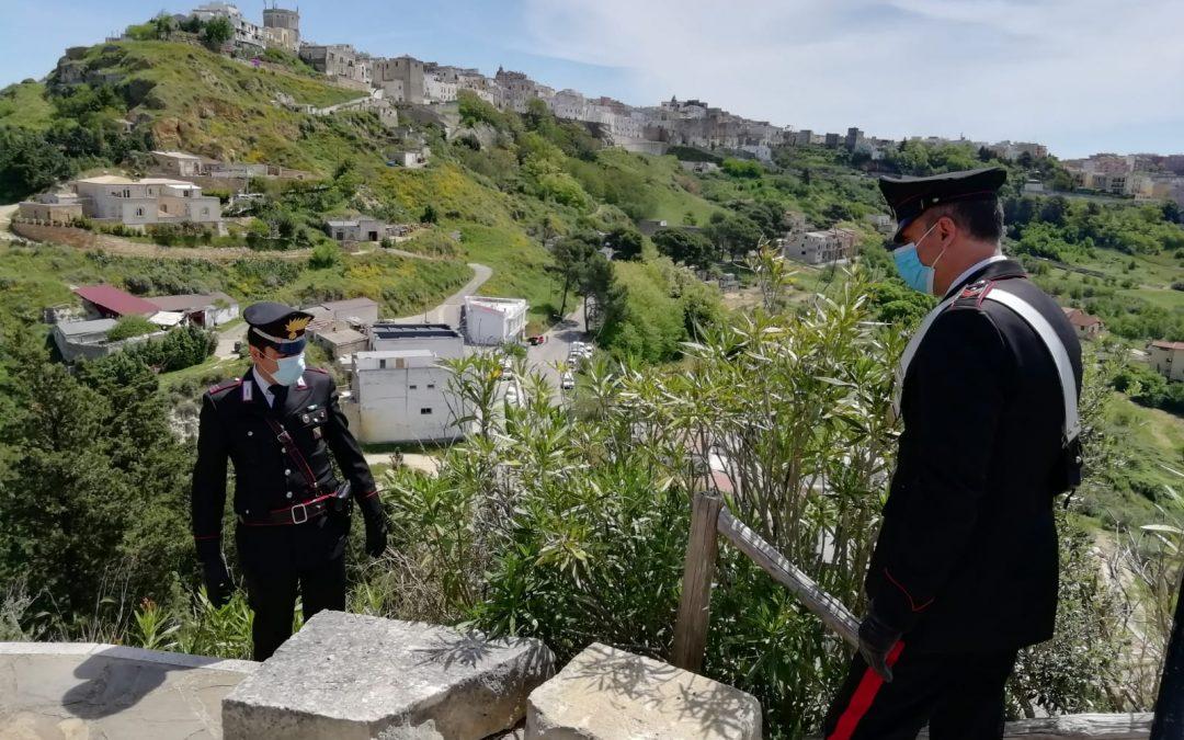 I carabinieri intervenuti a Montescaglioso