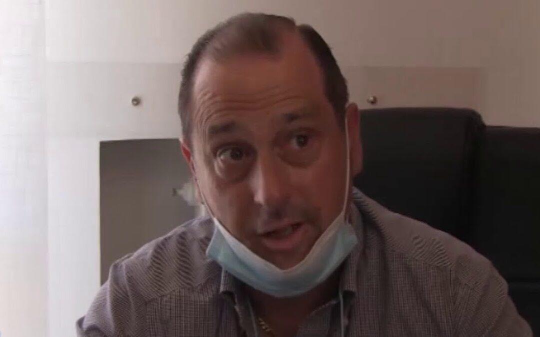 Michele Tramontana nel corso della conferenza stampa