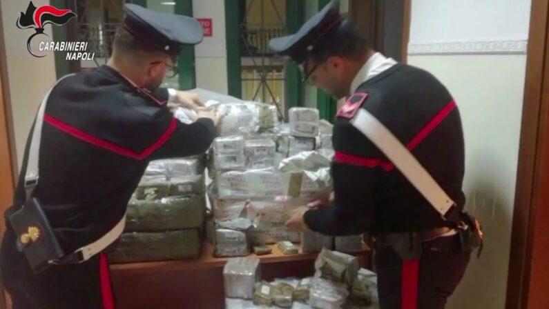 Maxi sequestro di droga, oltre 2 quintali di hashish in un'abitazione, 2 arresti