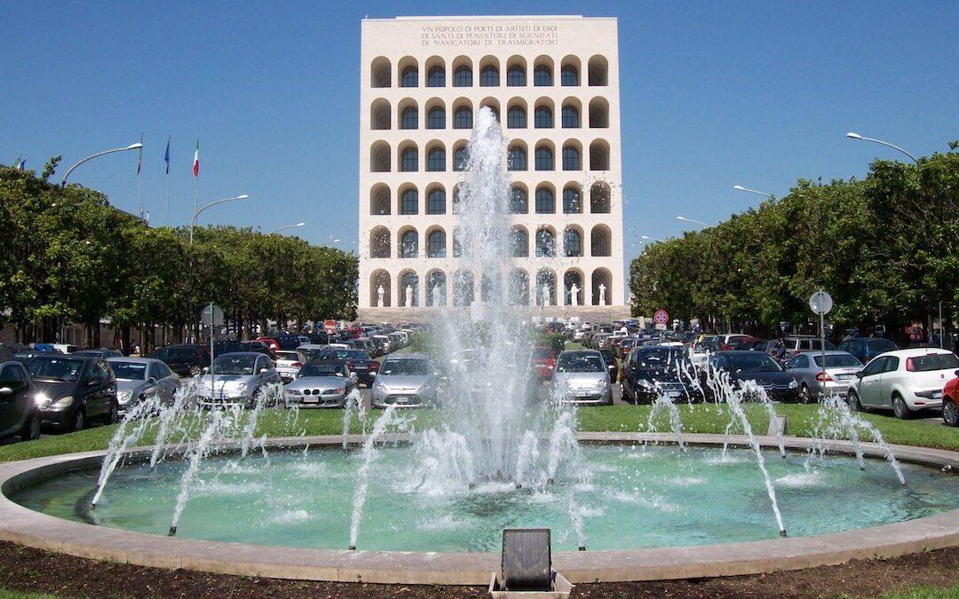 Un'immagine del quartiere Eur di Roma