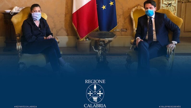 Conte riceve Santelli, la governatrice: «Incontro cordiale e propositivo»