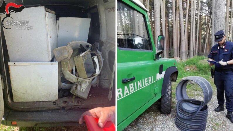 Parco della Sila, denunciato un uomo per trasporto abusivo di rifiuti ingombranti