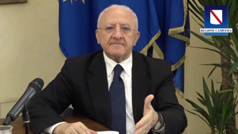 """Elezioni, De Luca: """"Governo irresponsabile, ridicolo impedire il voto a luglio"""""""