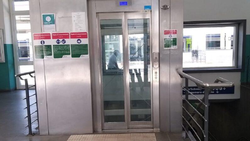 Tre nuovi ascensori alla stazione ferroviaria di Paola