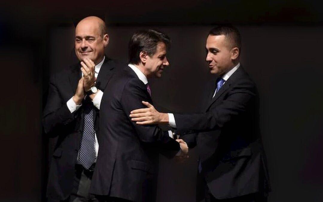 Nicola Zingaretti, Giuseppe Conte e Luigi Di Maio
