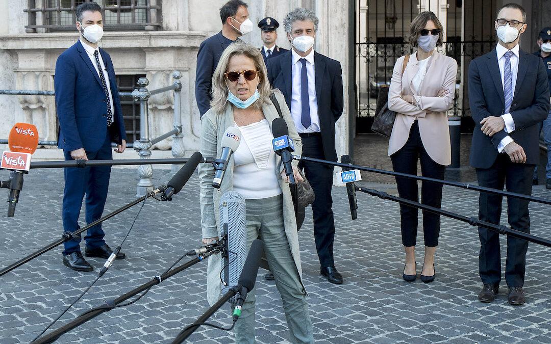 La pm Maria Cristina Rota a Palazzo Chigi per l'audizione di Conte (Foto Roberto Monaldo/LaPresse)