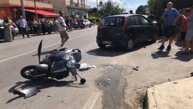 Incidente stradale a Pizzo: scooter contro auto, ferito un uomo