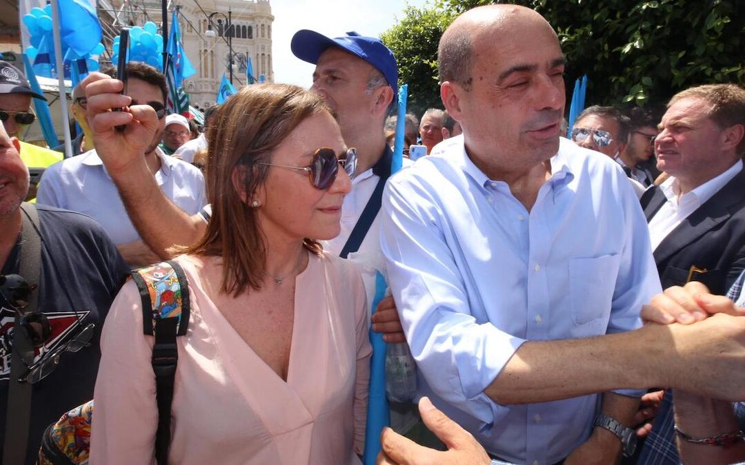 Enza Bruno Bossio con il segretario Pd Nicola Zingaretti nel giugno 2019