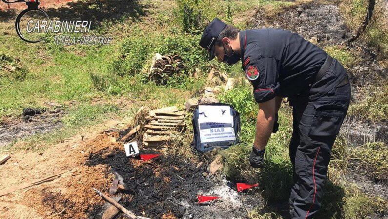 Rota Greca, scoperto e denunciatoun uomo che avrebbe appiccato un incendio
