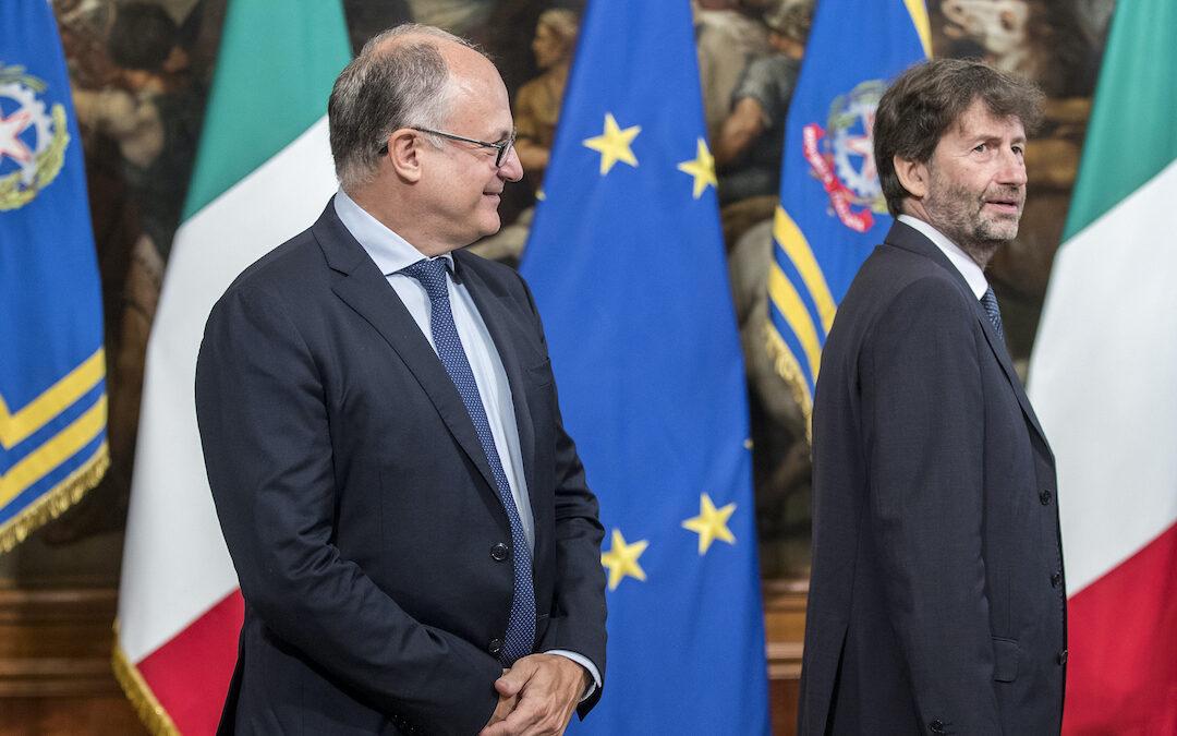 Roberto Gualtieri e Dario Franceschini (Foto Roberto Monaldo/LaPresse)