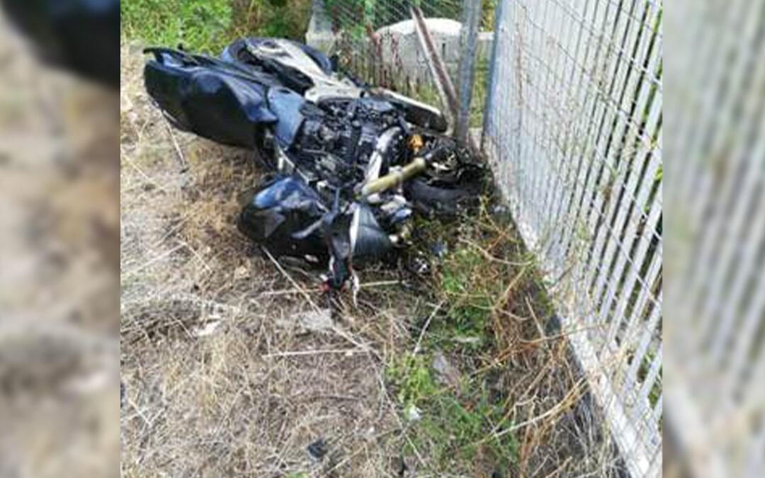 Una foto dell'incidente in cui ha perso la vita Giacomo Capalbo