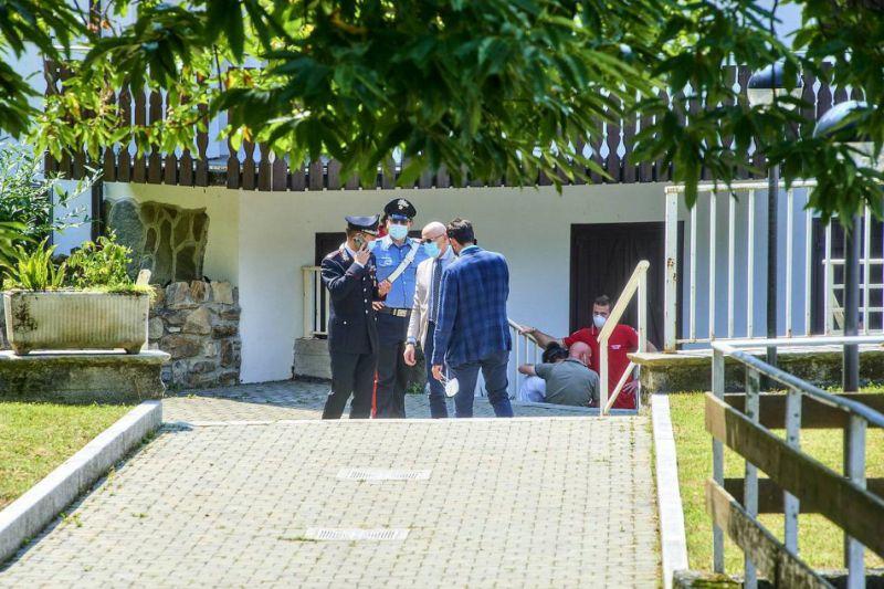 Il luogo del duplice omicidio compiuto da Mario Bressi