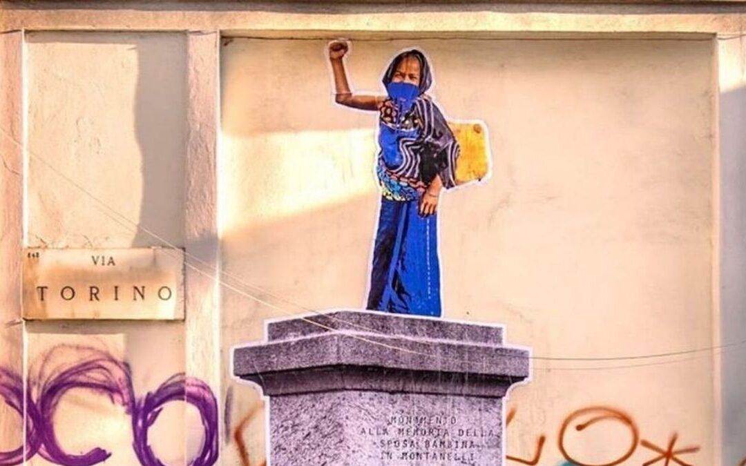 """Il murale di Ozmo a Milano dedicato alla """"sposa bambina"""""""