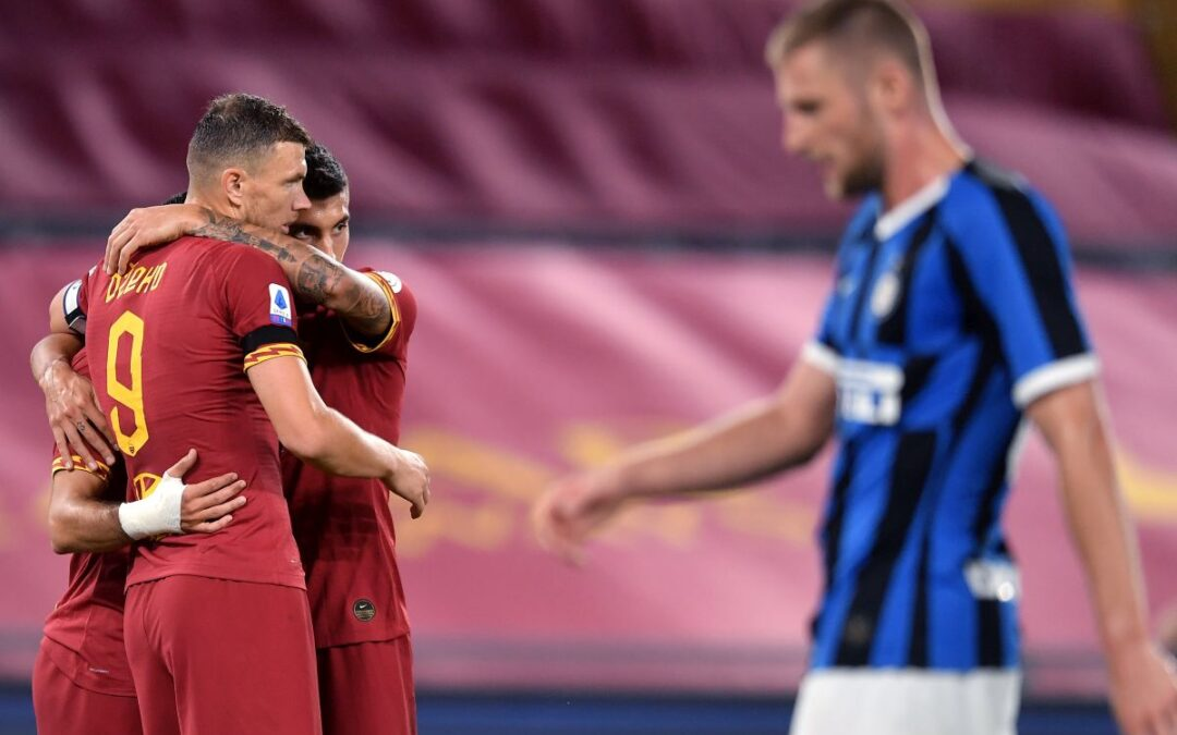 Serie A, Roma-Inter 2-2, Lukaku pari di rigore e nerazzurri a -5 dalla Juve
