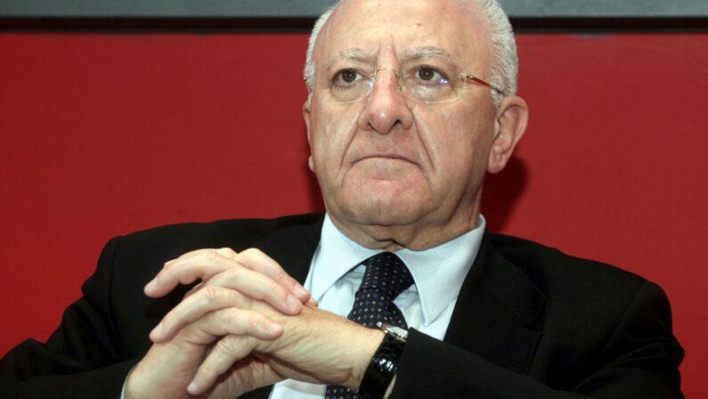 """Campania, De Luca """"al lavoro per umanizzare servizi nella sanità"""""""
