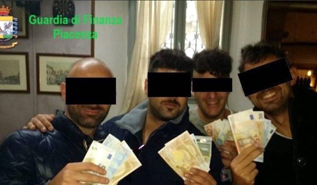 Alcuni dei carabinieri arrestati a Piacenza