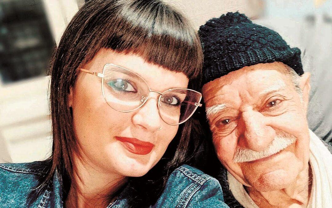 Carmen Federica Lopatriello con il nonno Carlantonio