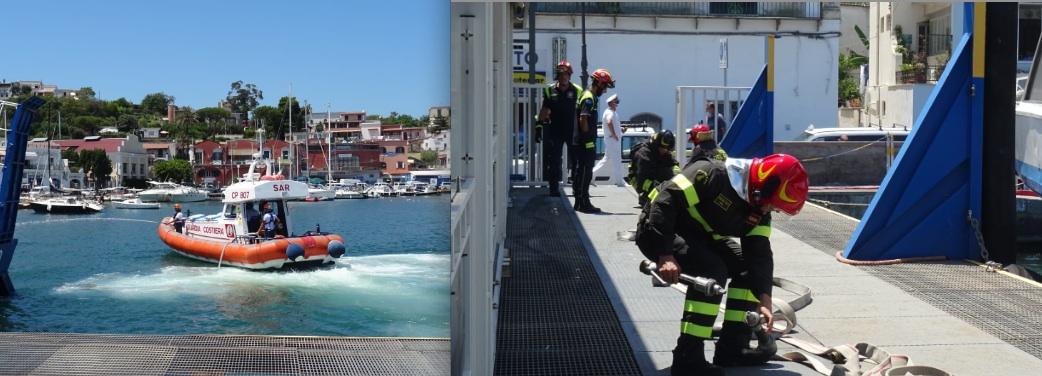 Guardia Costiera, esercitazione antincendio ad Ischia