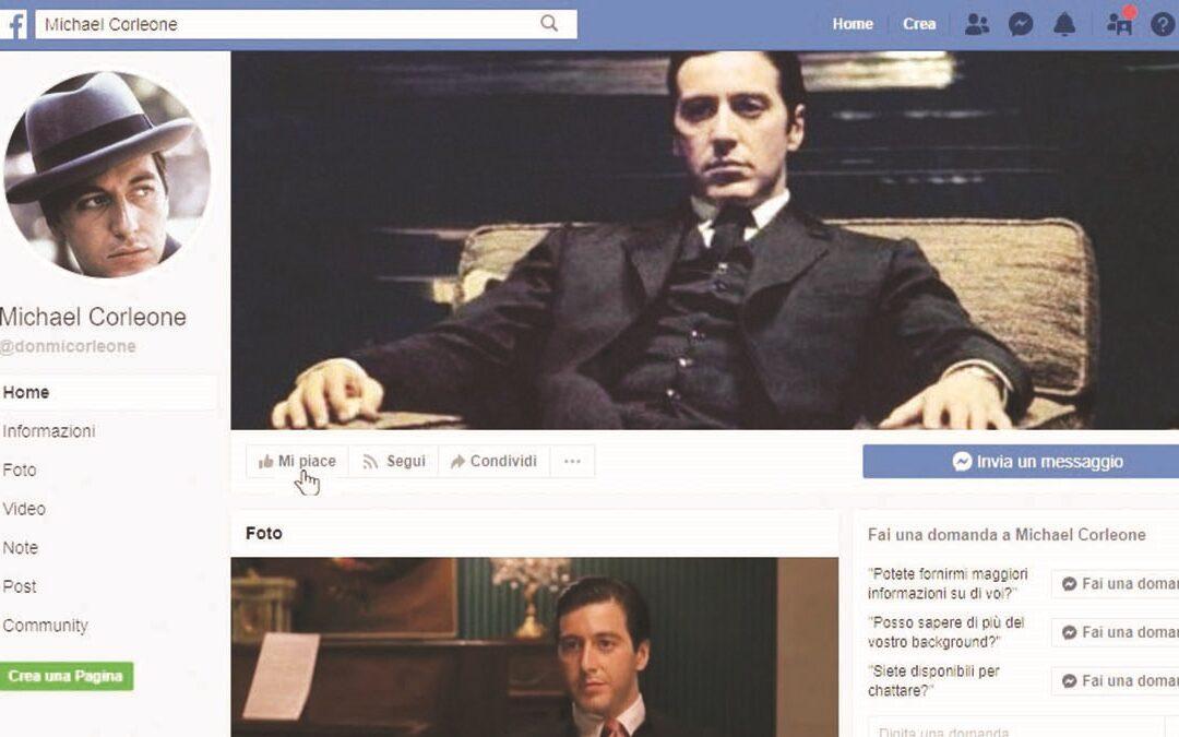 Un profilo social che esalta Al Pacino in versione padrino