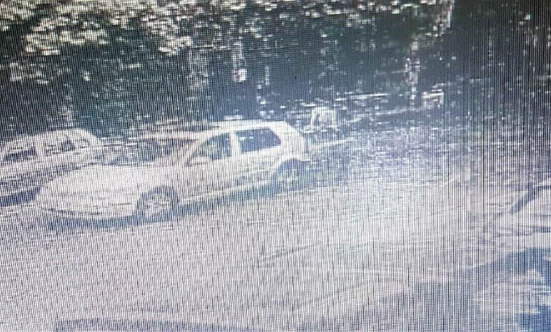 La Golf ripresa dalle telecamere di sicurezza di un distributore di benzina