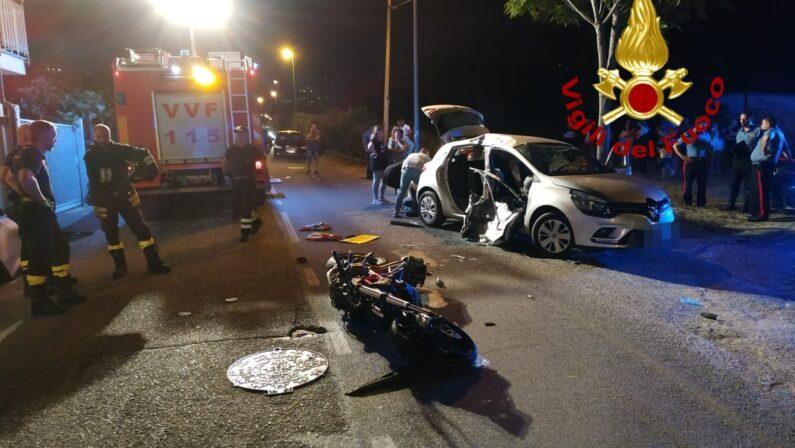Violento scontro tra auto e moto a Lamezia, 5 feriti in ospedale