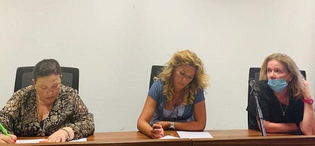 L'assessore regionale Sandra Savaglio (la prima a destra) durante il Tavolo tecnico sul prossimo anno scolastico