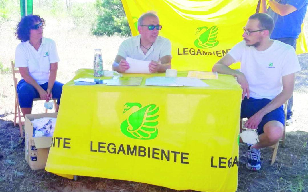 La conferenza stampa di Goletta Verde ieri a Marina di Pisticci