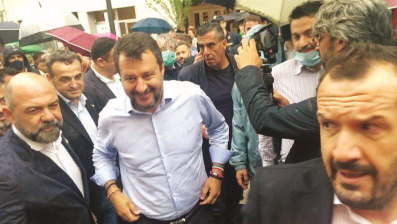Matera, Salvini sul candidato sindaco «Non è detto sia della Lega, basta che non passi da un lato all'altro»