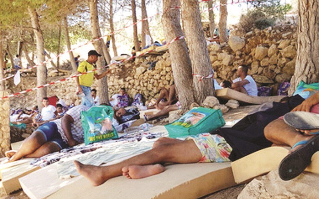 Migranti a Lampedura