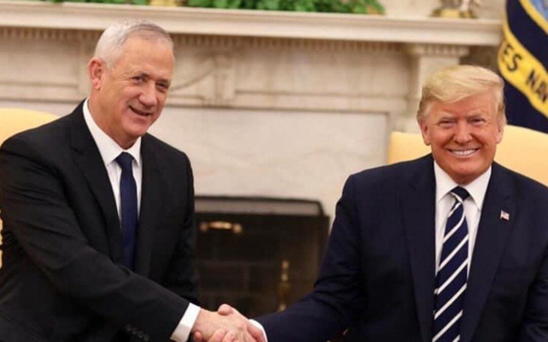 Netanyahu il primo ministro israeliano con il presidente Trump