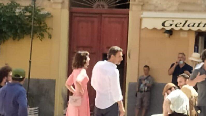 Bova e Muccino in piazza a Tropea per girare il cortometraggio sulla Calabria
