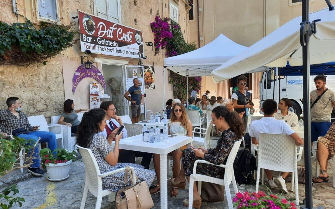 Una scena durante le riprese in Calabria