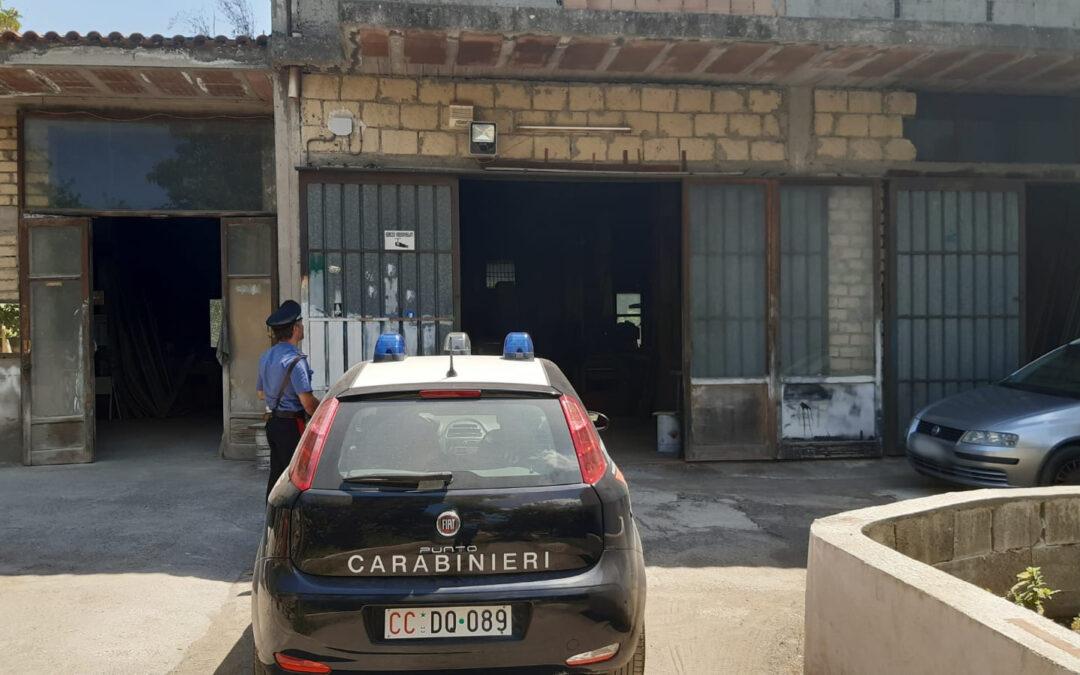 Scoperta falegnameria abusiva  a San Giuseppe Vesuviano