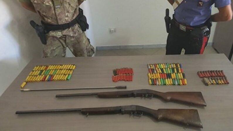 Fucili e centinaia di munizioni sequestrati nella Locride