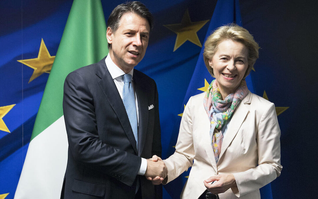 Giuseppe Conte e Ursula von der Leyen