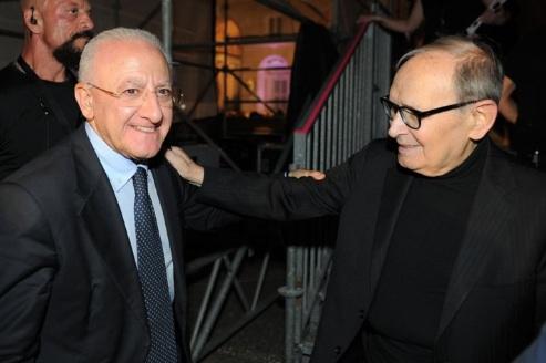 """De Luca: """"Addio Maestro Morricone, orgoglio italiano, amico della Campania"""""""