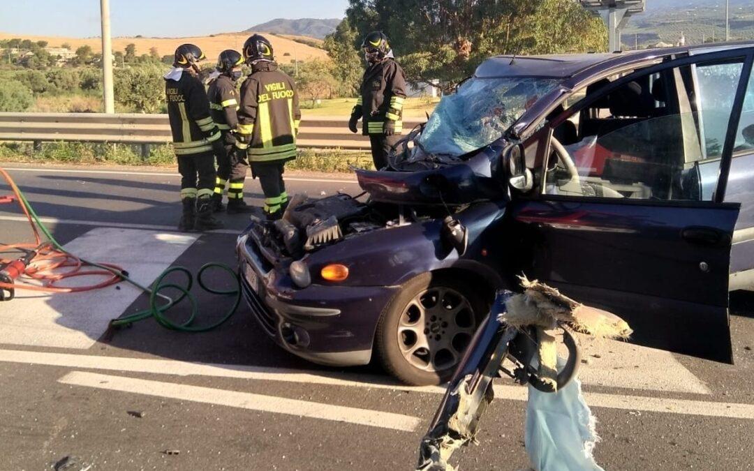 La vettura coinvolta nell'incidente