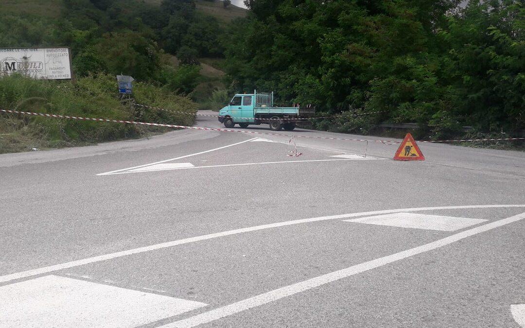 Il tratto della strada provinciale 73 chiuso al traffico