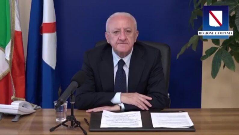VINCENZO DE LUCA: «Sarebbe uno scandalo intollerabile perseverare con criteri da rapina al Sud»